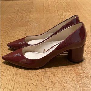Zara burgundy patent heel size 38